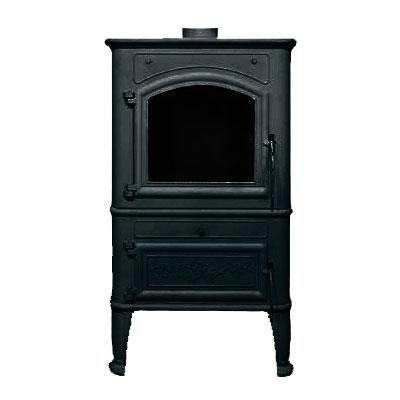 Печь-камин LCI Canaria lux, чёрная (Liseo Castiron) 8-14 кВт